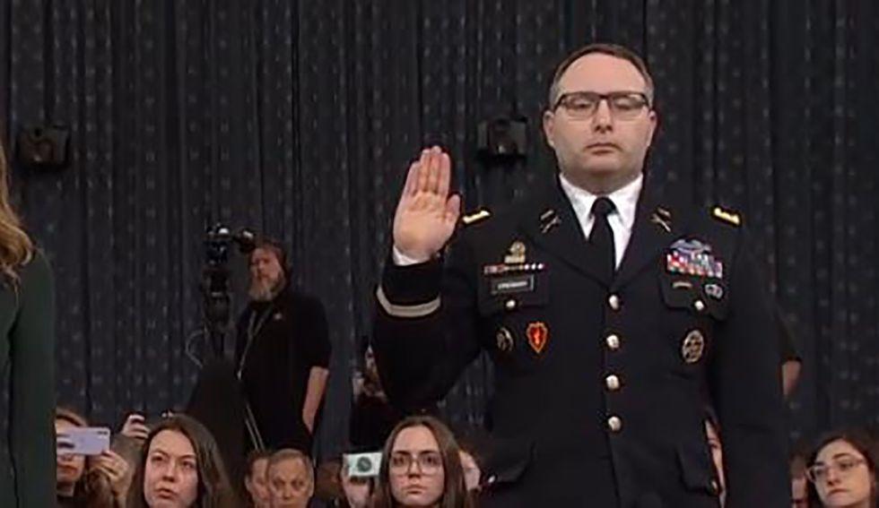 Army says impeachment witness Alexander Vindman isn't being investigated — despite Trump's urging