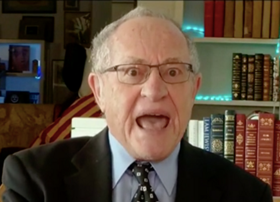 'They Can Target Anyone!': Alan Dershowitz Loses It on Fox News and Attacks Prosecutors For Doing Their Jobs