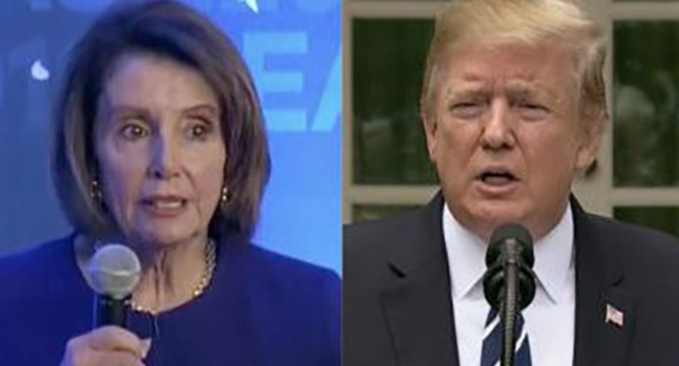 Trump can't stop obsessing over Nancy Pelosi's power move