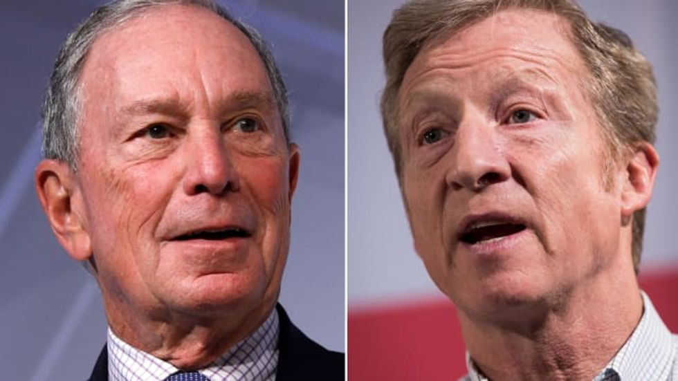 Bloomberg and Steyer have spent six times as much on TV ads as all of the other Democratic candidates combined