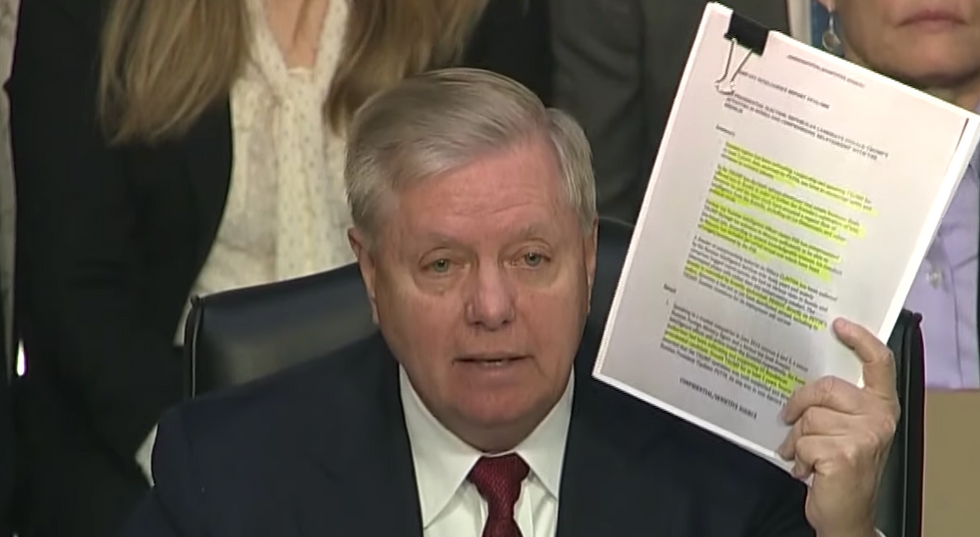 Lindsey Graham opens his hearing with possibly the worst defense of Trump ever