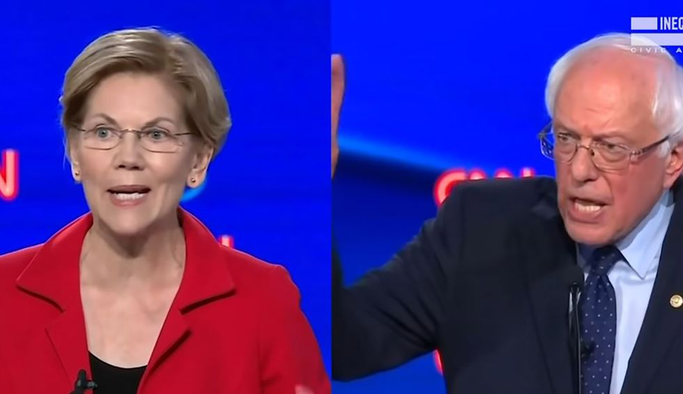 Corporate media pushes bogus Sanders and Warren 'trash talk' narrative — which only serves Biden, Buttigieg and their billionaire supporters