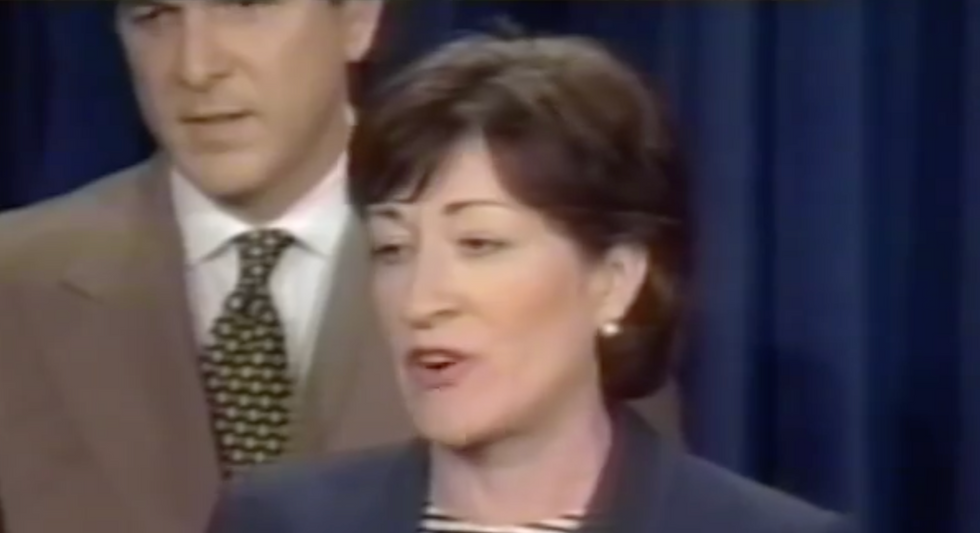 An old quote from Susan Collins has resurfaced to haunt the GOP as impeachment looms