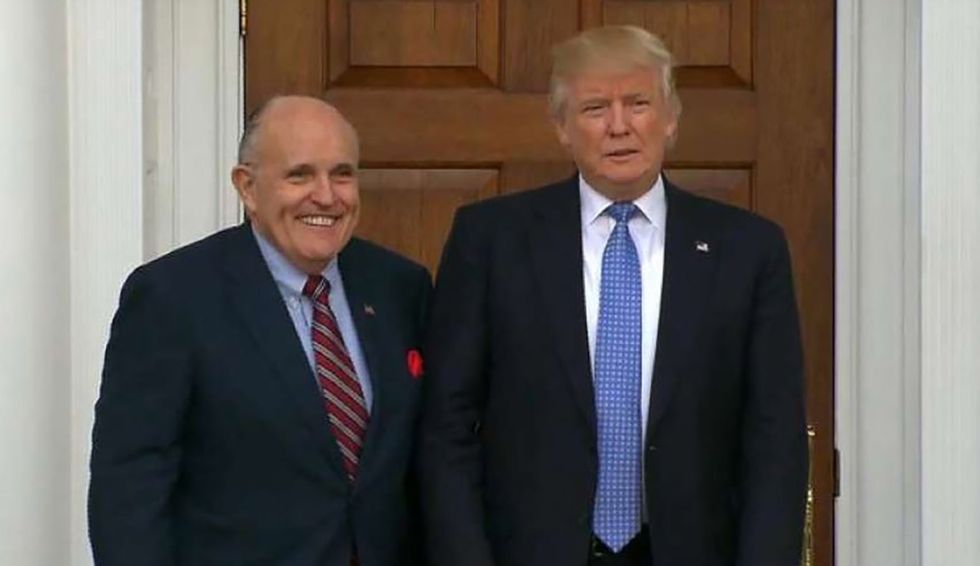 Rudy Giuliani spins wild Ukraine conspiracies as Fox & Friends hosts desperately try to cut him off