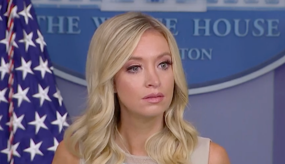 Kayleigh McEnany's briefing goes 'off the rails' as reporters corner her on Trump's racism