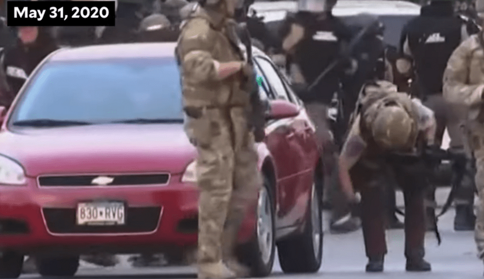 Video of state troopers slashing the car tires of protesters and reporters goes viral