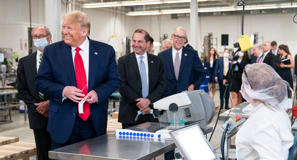 No, Trump wasn't joking about holding back the government's Covid-19 testing program. It's a crime