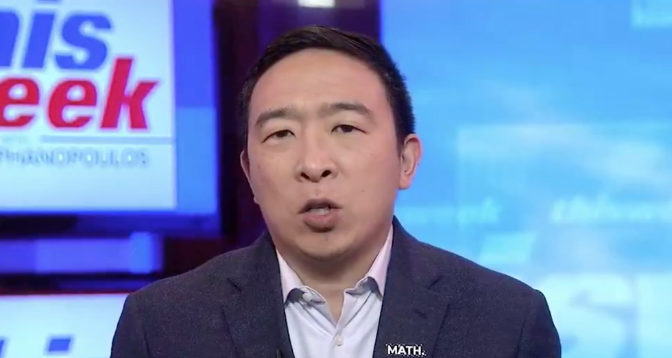 Andrew Yang's lies about supporting Medicare for All exposed as journalist corners him live on air