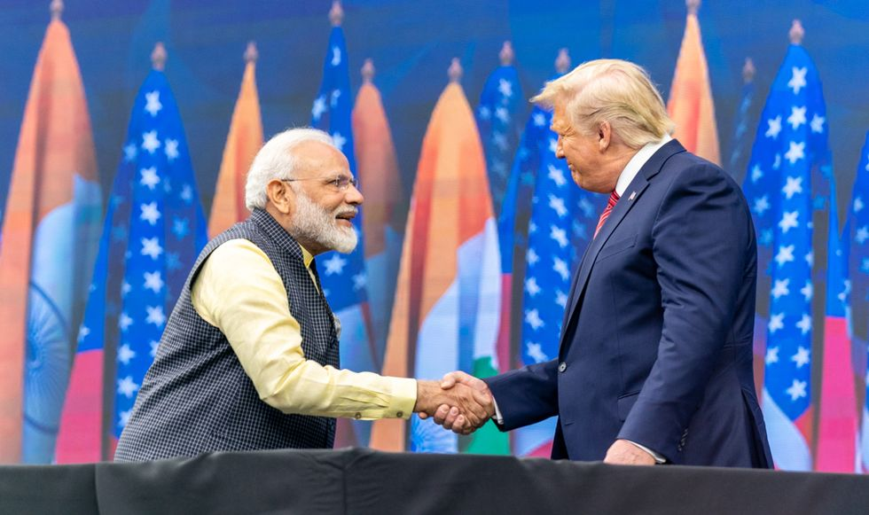 Trump visits Modi's India and announces $3 billion arms deal: 'The worst kind of fascists'
