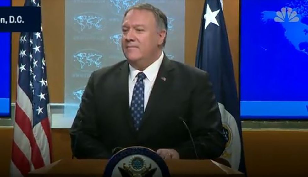 Pompeo flails in disastrous press conference while trying to defend claim Soleimani assassination was due to 'imminent' threat