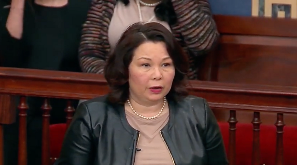 Democrat Tammy Duckworth says Trump 'is as easy to control as a toddler' and 'gets manipulated' by dictators