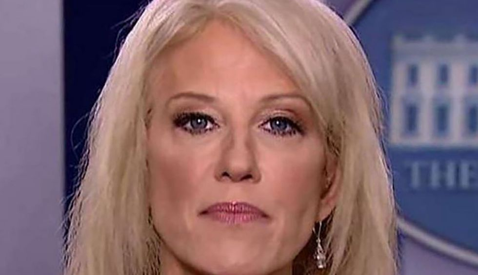 Kellyanne Conway stumped as reporter grills her over Trump's threat to commit war crimes