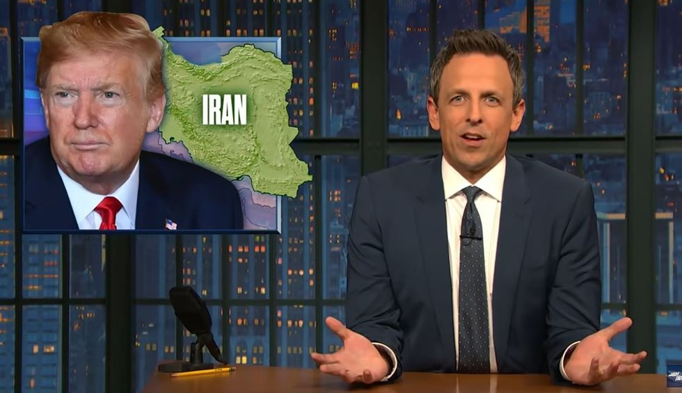 Seth Meyers compiles epic super-cut of Trump's 'sniffling, stuttering' mess of a speech