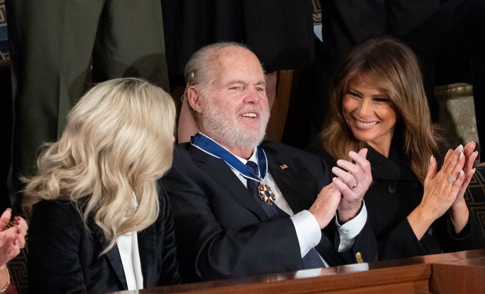 Rush Limbaugh hurls homophobic, sexist and racist attacks at Trump's rivals shortly after getting Medal of Freedom