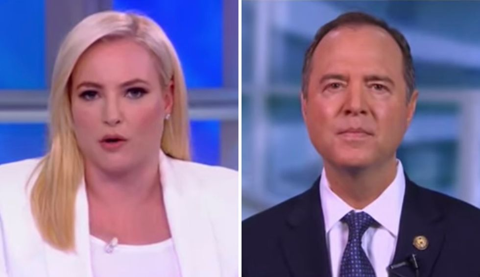 Adam Schiff schools Meghan McCain on 'constitutional duty' after she demands to know if Trump impeachment 'will hurt Democrats politically'