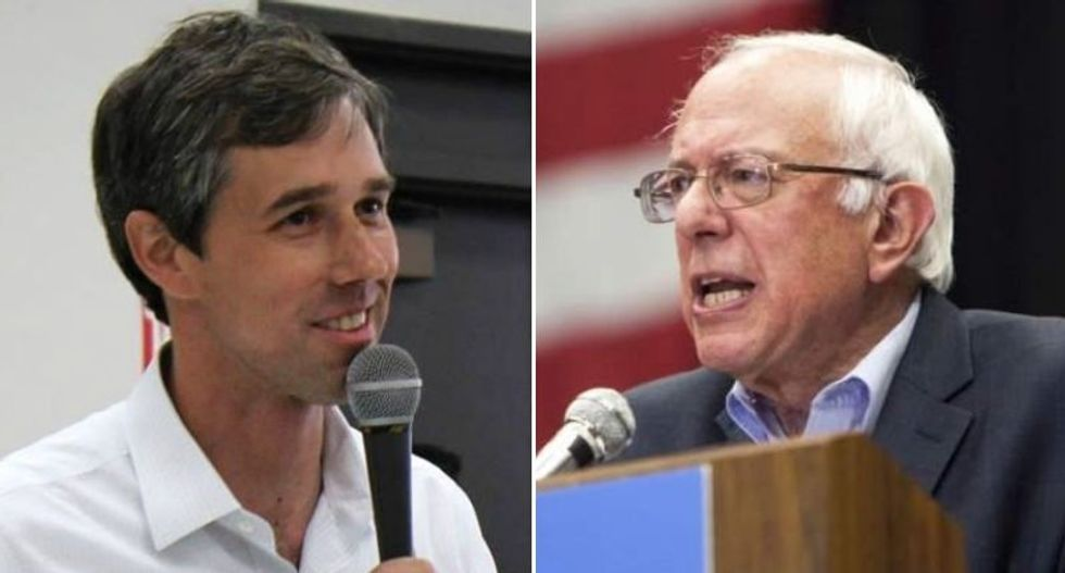 O'Rourke's campaign received 128,000 'unique contributions' in the first 24 hours — Sanders had 225,000 donors