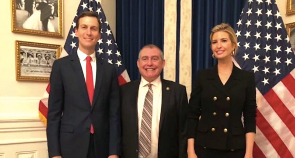 Could there be a benign explanation for why Trump's lackeys were stalking an American ambassador?