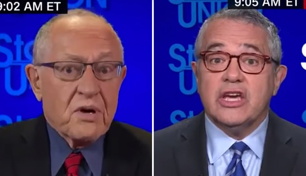 Jeffrey Toobin confronts Alan Dershowitz for using Trump impeachment to 'elevate himself' in fiery CNN interview