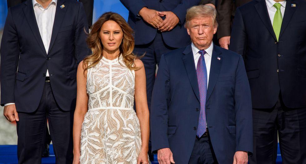 Awkward: Anti-bullying activist Melania Trump hosts 'Be Best' meeting after husband's rage-tweeting weekend