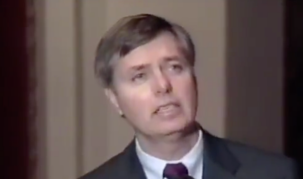 New clip of young Lindsey Graham talking about impeachment shows his hypocrisy knows no bounds