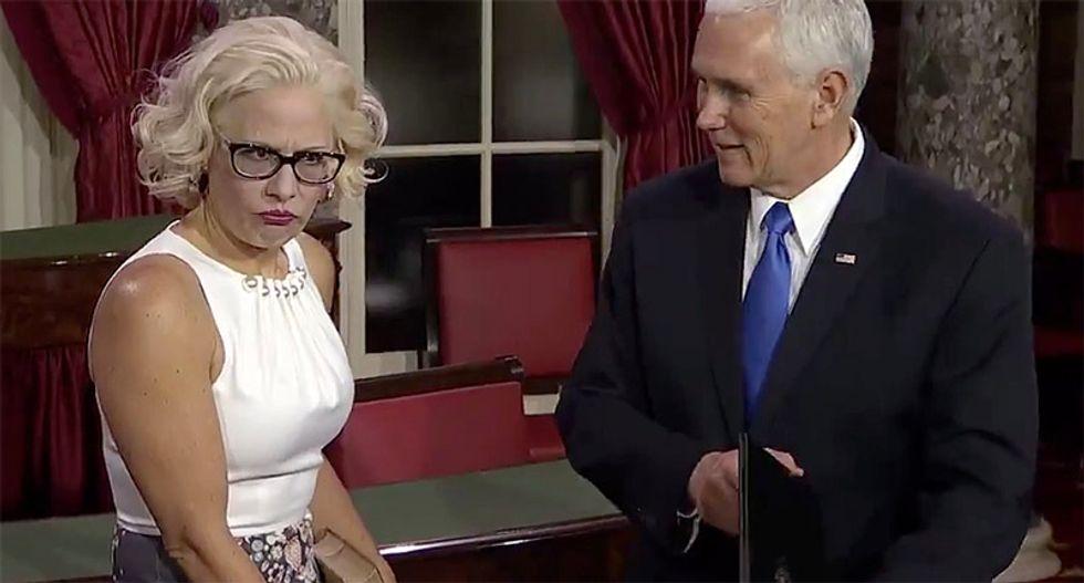 'Senator Madonna': Arizona GOP committeeman says Kyrsten Sinema was elected because of 'dumb ass people'