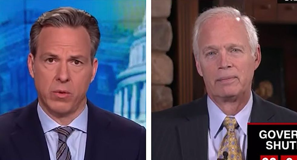 CNN's Tapper uses Manafort's proven ties to Russian intelligence to crush GOP senator's wild rant about Democrats colluding with Russians