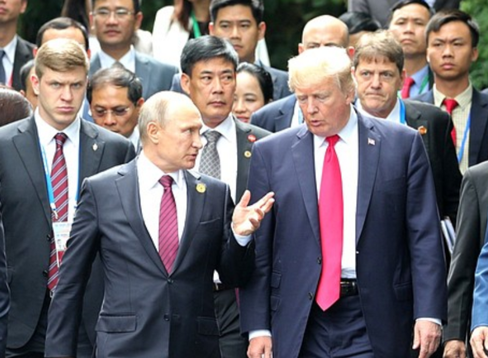 'Owned by Putin': Trump accused of 'literal treason' after bombshell NYT report on Russian assassination unit