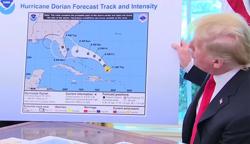 'Crazy': FOIA'd emails reveal alarm and frustration among top NOAA officials over Trump's 'doctored' Hurricane Dorian map