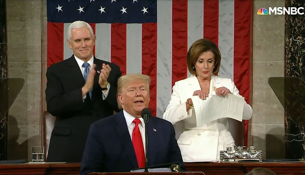 Trump's State of the Union featured reality-show stunts and empty rhetoric. But he can't erase impeachment