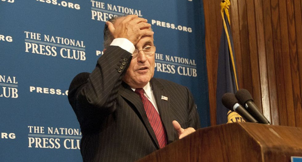 Conservative calls for the total annihilation of the Republican Party as Giuliani openly 'betrays' the United States