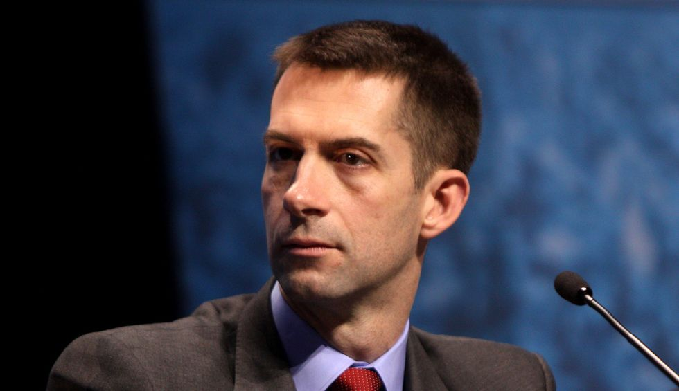 Tom Cotton wants to withhold funds from schools that teach lessons based on NYT's 1619 Project