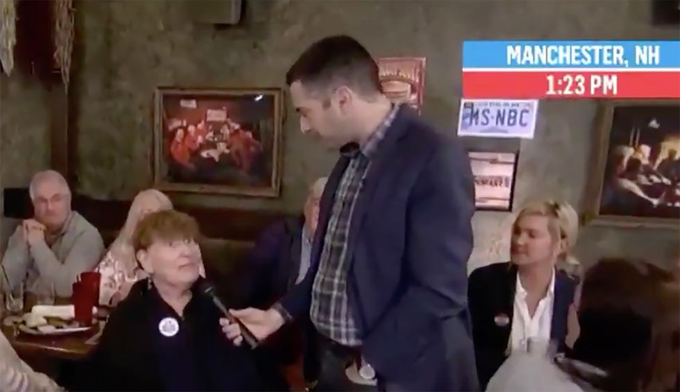 NH Voter tells MSNBC live on air that network's bias against Bernie Sanders made her vote for him