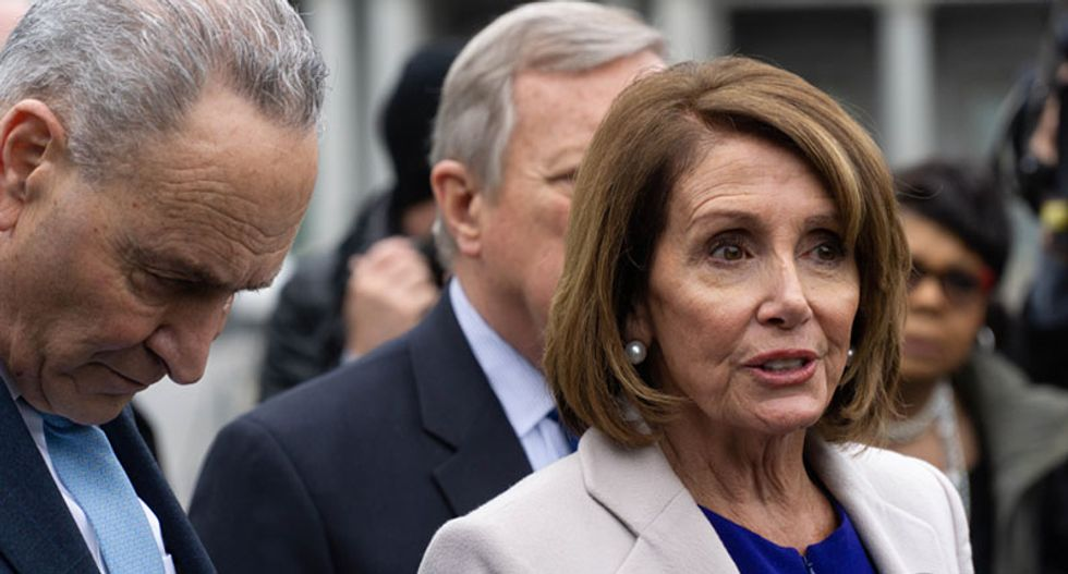 Pelosi and Schumer call on Mitch McConnell to bring the Senate back into session and address the US gun crisis