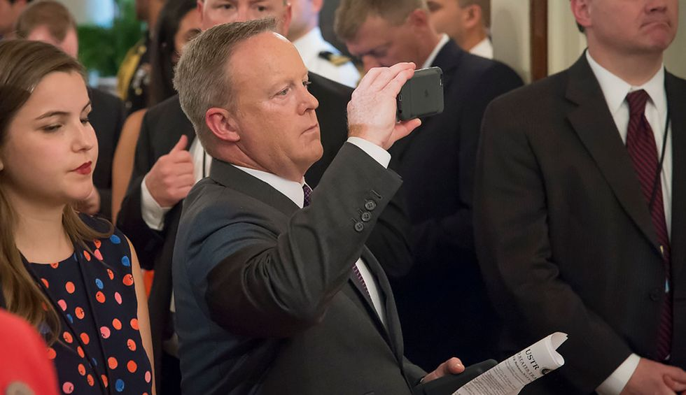 Trump rehires Reince Priebus and Sean Spicer to White House roles