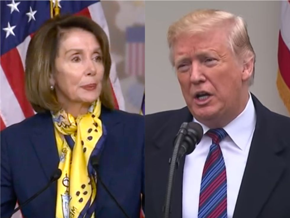 'It's a fascist statement!' Trump totally freaks out about Nancy Pelosi saying he committed crimes