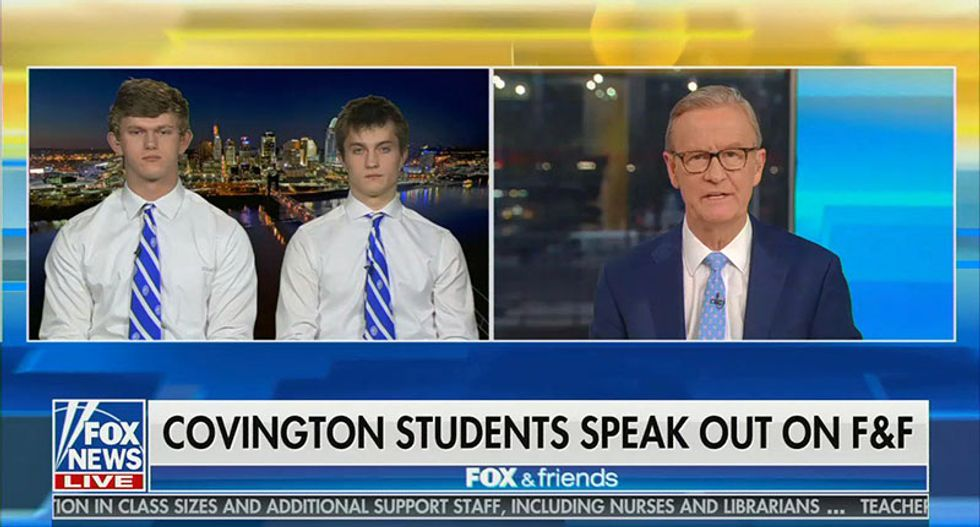 White students at Covington Catholic kids defend wearing blackface because they were 'just showing school spirit'