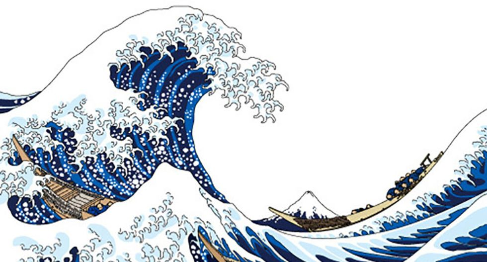 Scientists recreated a monster wave that looks like Hokusai's famous image - take a look