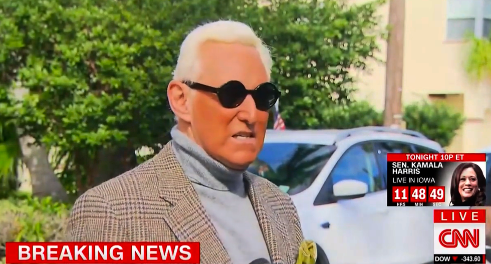 Roger Stone fumes against his former colleague Jerome Corsi in self-pitying press conference