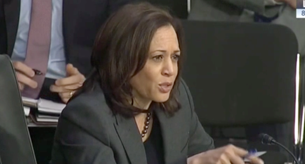 Watch: Kamala Harris busts Trump's intel chief for talking down to her about countering Russian disinformation attacks
