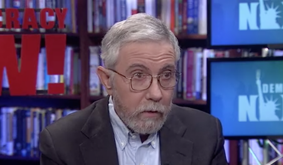 'American democracy is on the line': Watch economists Paul Krugman and Richard Wolff debate socialism and 2020