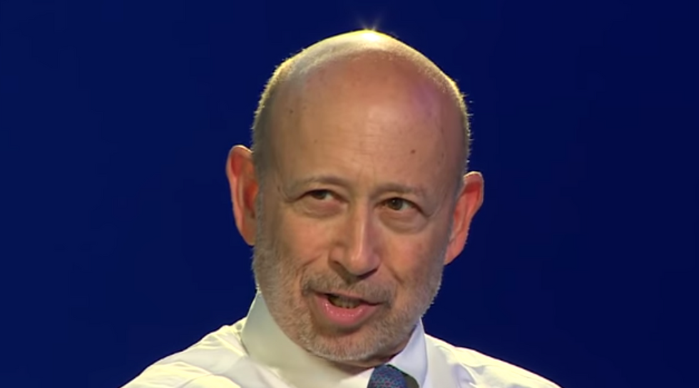 Goldman Sachs' anti-Trump chairman says he may vote for Trump — for a nauseating reason