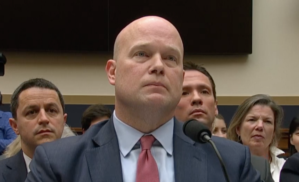 A top Democrat suggests that acting AG Matthew Whitaker may have lied to Congress