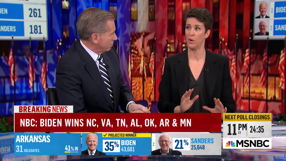 How MSNBC embraced a bizarre tone of 'pleasant surprise' to cover Super Tuesday