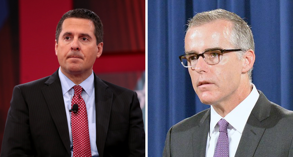 McCabe blames Nunes for telling Trump about FBI investigation: The White House 'immediately knew'