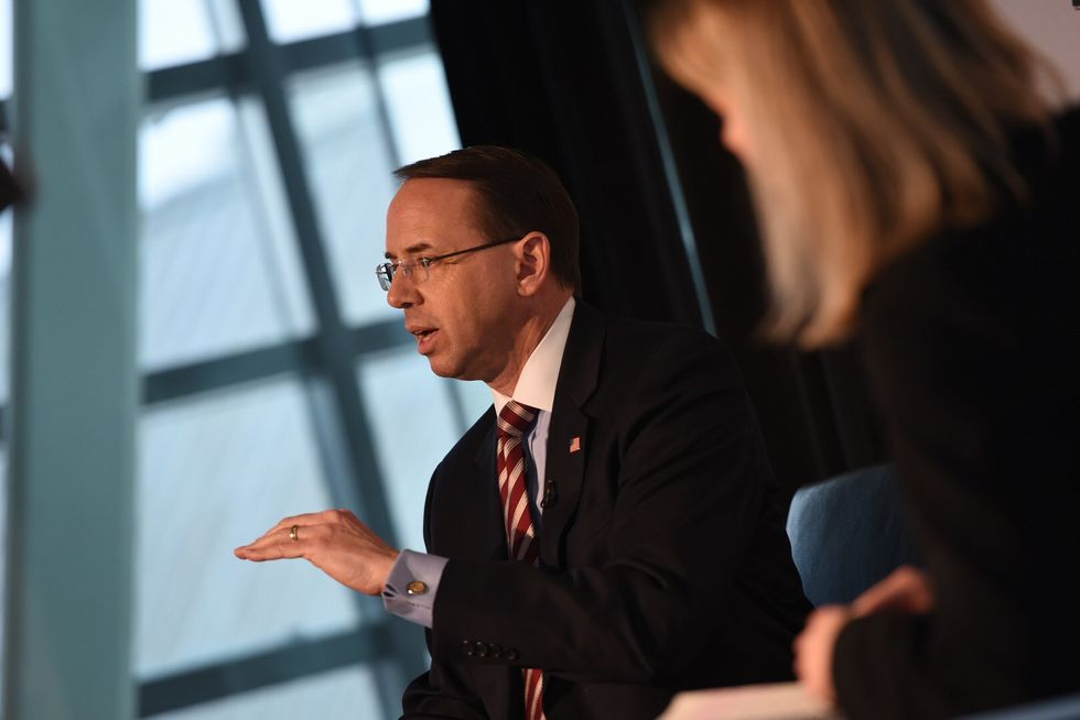 Rod Rosenstein drops mysterious hints about the possible release of a Mueller report