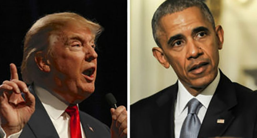 Trump blames Obama in lie-filled tweet after his obstruction of Russia probe threatens to bring down AG Barr