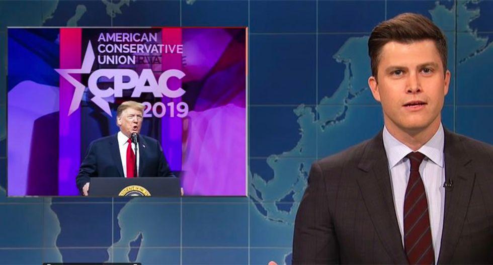 "SNL's Weekend Update rips Trump's deranged CPAC speech: 'What the hell was that?"""