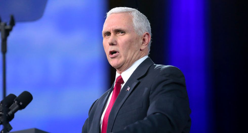 Mike Pence dodges questions and slinks away after pressed on his promotion of hacked WikiLeaks emails in 2016