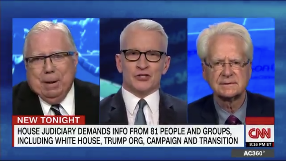 CNN's Cooper shuts down debate with Trump-linked conspiracy theorist Jerome Corsi and his lawyer after they spout Birther nonsense