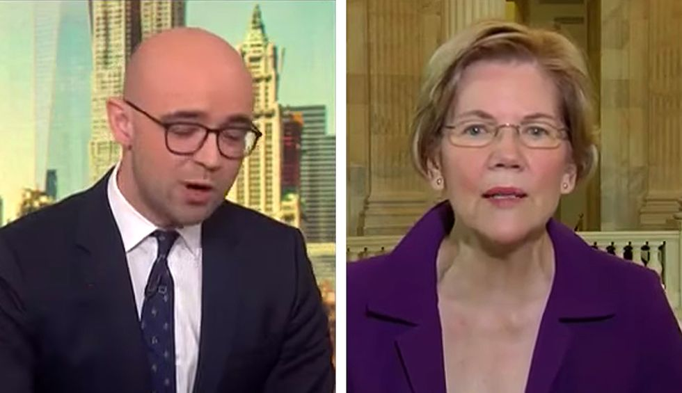 'Excuse me!' Elizabeth Warren takes on Bloomberg host after he blames Dems for stalled virus bill